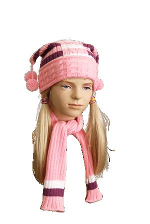 Описание: модные вязаные шапки 2012.
